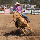 Cowgirl in Control Stock Photography