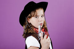 Cowgirl costume Royalty Free Stock Photo