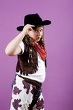 Cowgirl costume Royalty Free Stock Photography