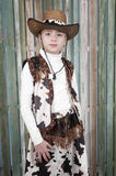 Cowgirl in country outfit Royalty Free Stock Photography