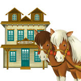 Cowgirl or Cowboy - wild west - illustration for the children Stock Images