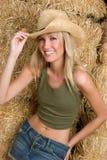 Cowgirl de risa imagen de archivo