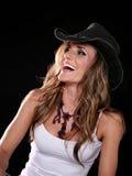 Cowgirl de risa Foto de archivo