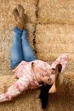 Cowgirl de sorriso Imagens de Stock