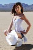 Cowgirl del Brunette Fotografie Stock Libere da Diritti