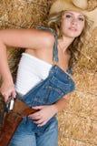 Cowgirl del paese fotografia stock