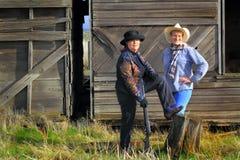 Cowgirl del pistolero del paese immagini stock libere da diritti