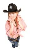 Cowgirl del Redhead fotos de archivo libres de regalías