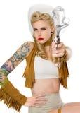 Cowgirl di Pinup Fotografia Stock