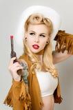 Cowgirl di Pinup fotografie stock