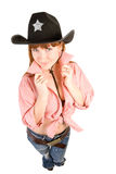 Cowgirl do Redhead Fotos de Stock Royalty Free