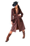Cowgirl In Duster Royalty Free Stock Photography