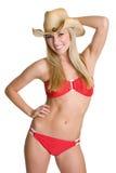 Cowgirl feliz Foto de archivo libre de regalías