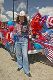 Cowgirl on the Fourth of July,in Lima Montana Royalty Free Stock Photos