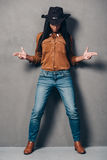 Cowgirl. Stock Photos