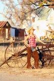 cowgirl gospodarstwo rolne Fotografia Stock