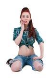 Cowgirl grazioso Fotografie Stock