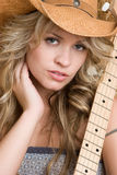 Cowgirl grazioso immagine stock