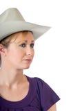 Cowgirl grazioso del Wyoming immagine stock