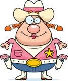 Cowgirl Guns stock illustration
