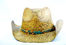 Cowgirl hat with beaded hat band. Royalty Free Stock Photos