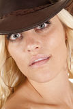 Cowgirl headshot looking Royalty Free Stock Image