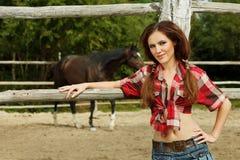 Cowgirl hermoso Fotografía de archivo