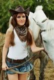 Cowgirl hermoso Fotos de archivo libres de regalías