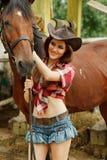 Cowgirl hermoso Foto de archivo libre de regalías