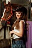 Cowgirl hermoso Imágenes de archivo libres de regalías