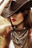 Cowgirl hermoso Imagen de archivo