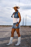Cowgirl hermoso. Imagen de archivo