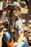 Cowgirl hermoso en stetson Fotografía de archivo libre de regalías