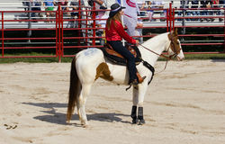 Cowgirl on Horse Royalty Free Stock Photography
