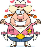 Cowgirl Hug Stock Photo