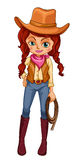 A cowgirl Royalty Free Stock Images