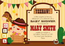 Cowgirl invitation Stock Photography