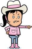 Cowgirl irritado ilustração stock