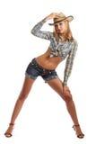 Cowgirl isolado Imagem de Stock