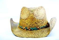 Cowgirl kapelusz z z paciorkami kapeluszowym zespołem Zdjęcia Royalty Free