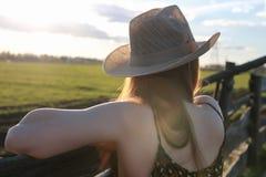 Cowgirl kapeluszu natura zdjęcie royalty free