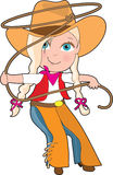 Cowgirl Kid Stock Photo