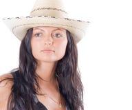 Cowgirl kraj z kapeluszem Obrazy Royalty Free