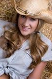 Cowgirl-Lächeln lizenzfreie stockfotografie