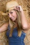 Cowgirl-Lächeln stockfotografie