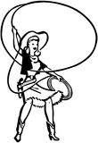 Cowgirl With Lasso Royalty Free Stock Photography