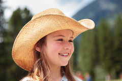 Cowgirl laughing Royalty Free Stock Photos
