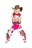 cowgirl little Arkivfoton