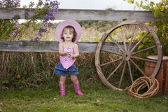 cowgirl little Royaltyfri Fotografi
