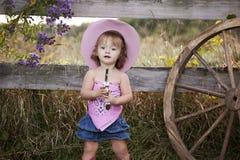 cowgirl little Royaltyfri Bild